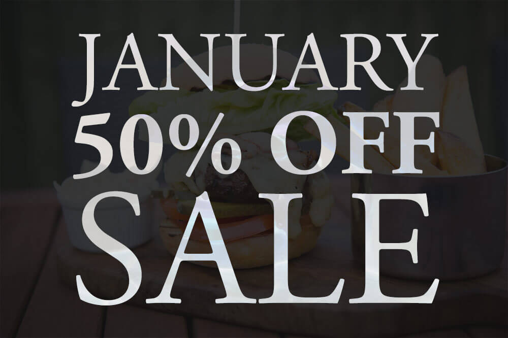 January Sale 50% OFF